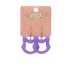 Erstwilder Essentials Cat Head Bubble Resin Drop Earrings (Purple)