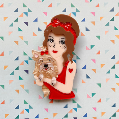Pippi Love Brooch 🐶