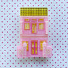 Peranakan Shophouse Brooch in Pastel Pink