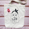 Blushing Rose Cotton Tote Bag