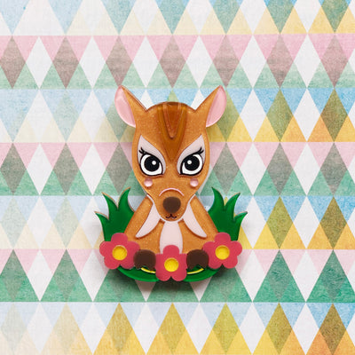 Sri the Quick-Witted Mouse Deer Brooch