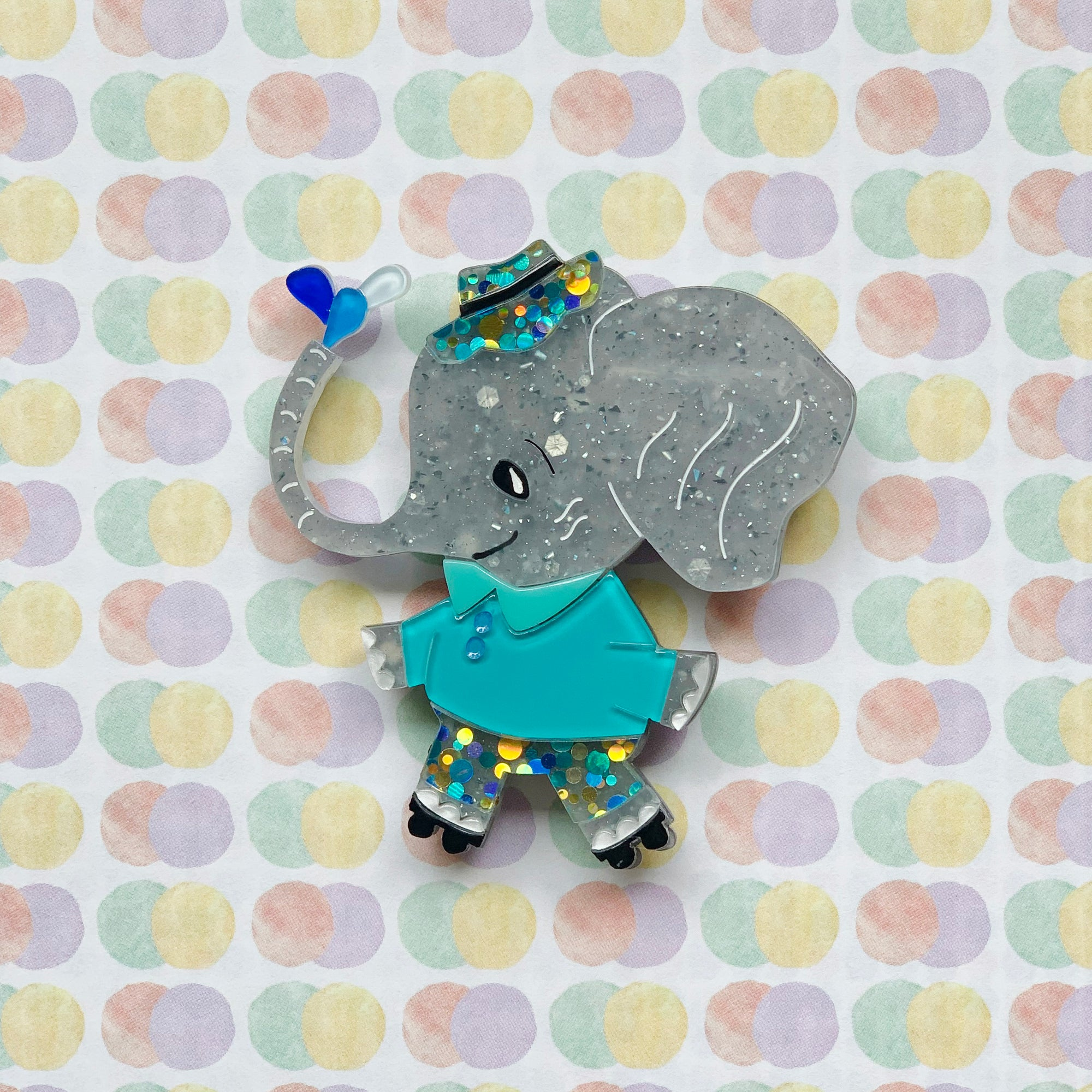 Ellie the Elephant Brooch by SLB x Asma Original