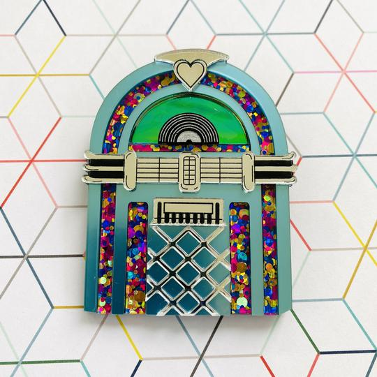 Jukebox Brooch by Poly Paige