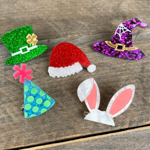 Seasons Hat Brooch Pin Set by Poly Paige *Pre order for 1 March*