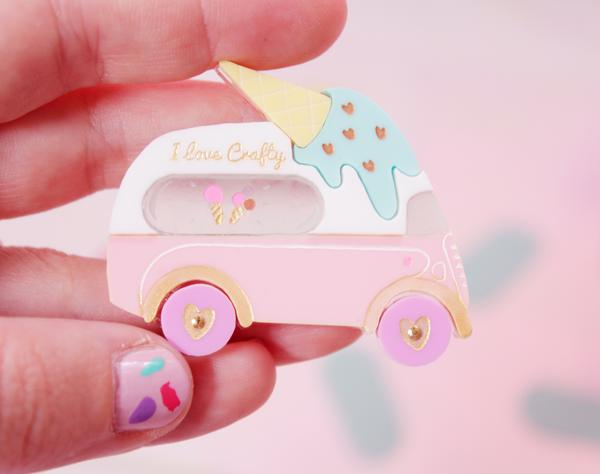 I love Crafty Ice Cream Van Brooch