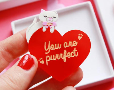 Love Cats Brooch *Pre-order for end of Feb*
