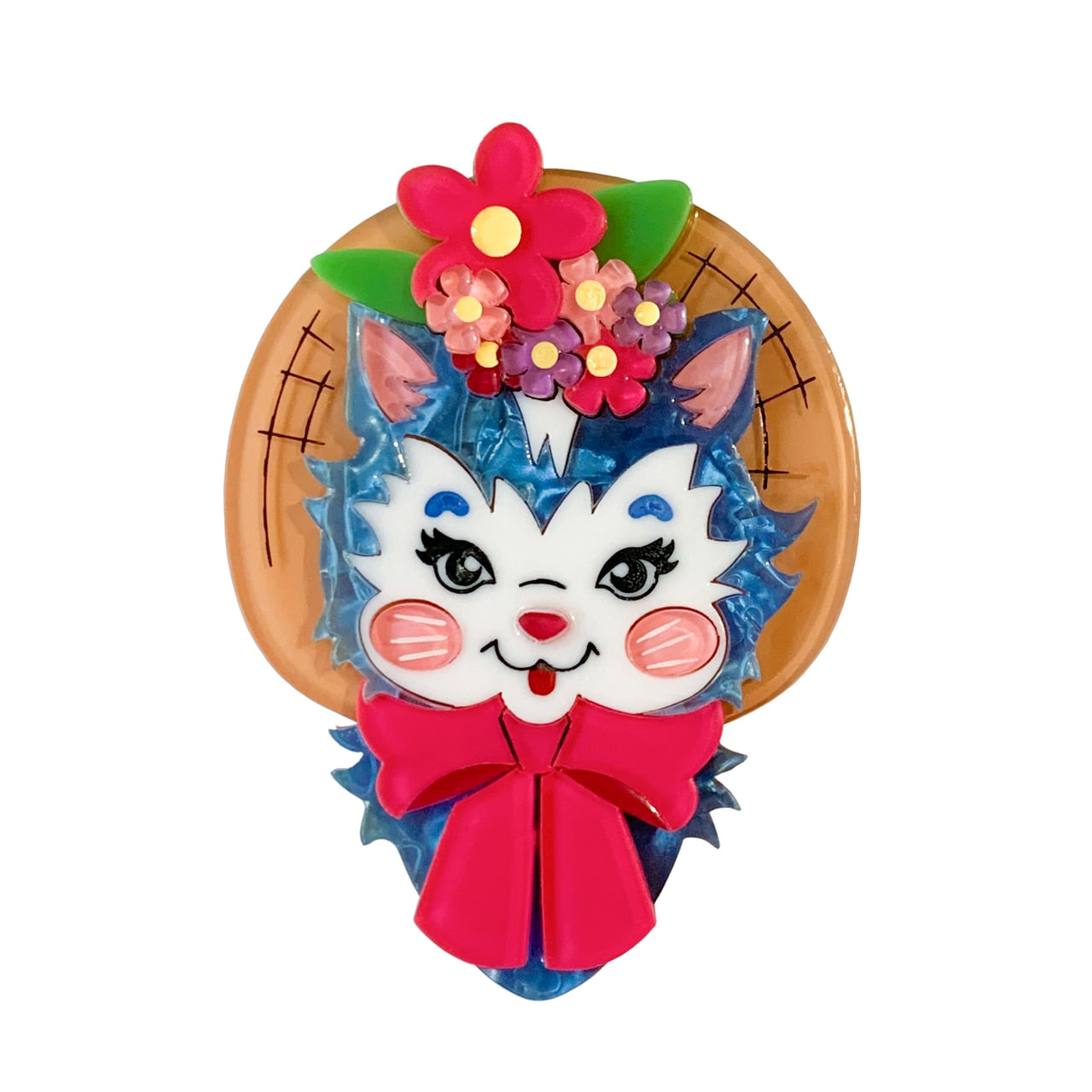 Cottage Core Kitty Brooch by Lipstick & Chrome