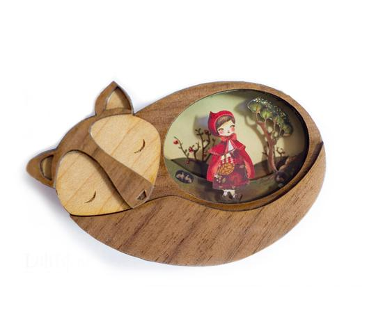 LaliBlue Little Red Riding Hood Brooch *Pre order for 11 November*