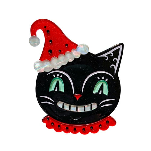 That Festive Feline Brooch by Johanna Parker x Lipstick & Chrome *Pre order for 22 Jan*