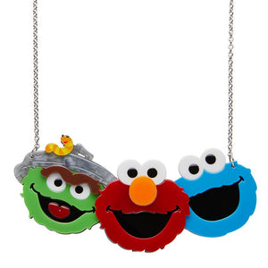 Erstwilder x Sesame Street Friendly Neighbour Necklace Friendly Neighbour Brooch Erstwilder