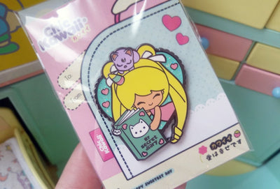 Chic Kawaii Sailor Moon and Diary Pin