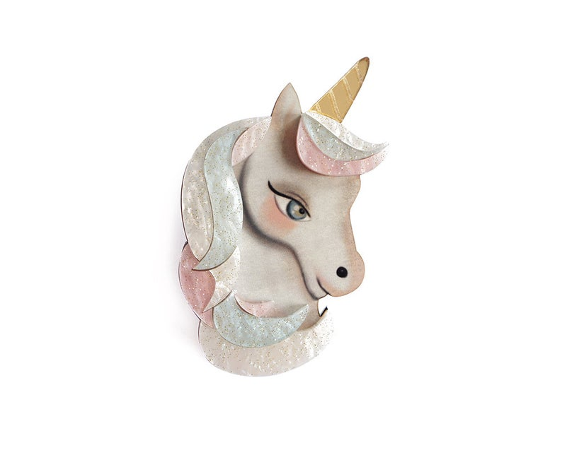 LaliBlue Unicorn Brooch