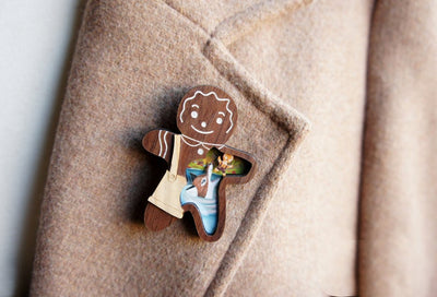 LaliBlue Gingerbread Man Brooch *Preorder for 14 August*
