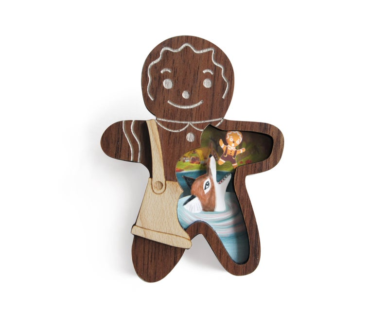 LaliBlue Gingerbread Man Brooch *Pre order for 11 November*