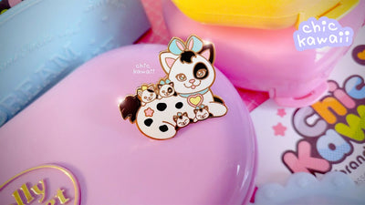 Chic Kawaii Surprise Kitty Pin