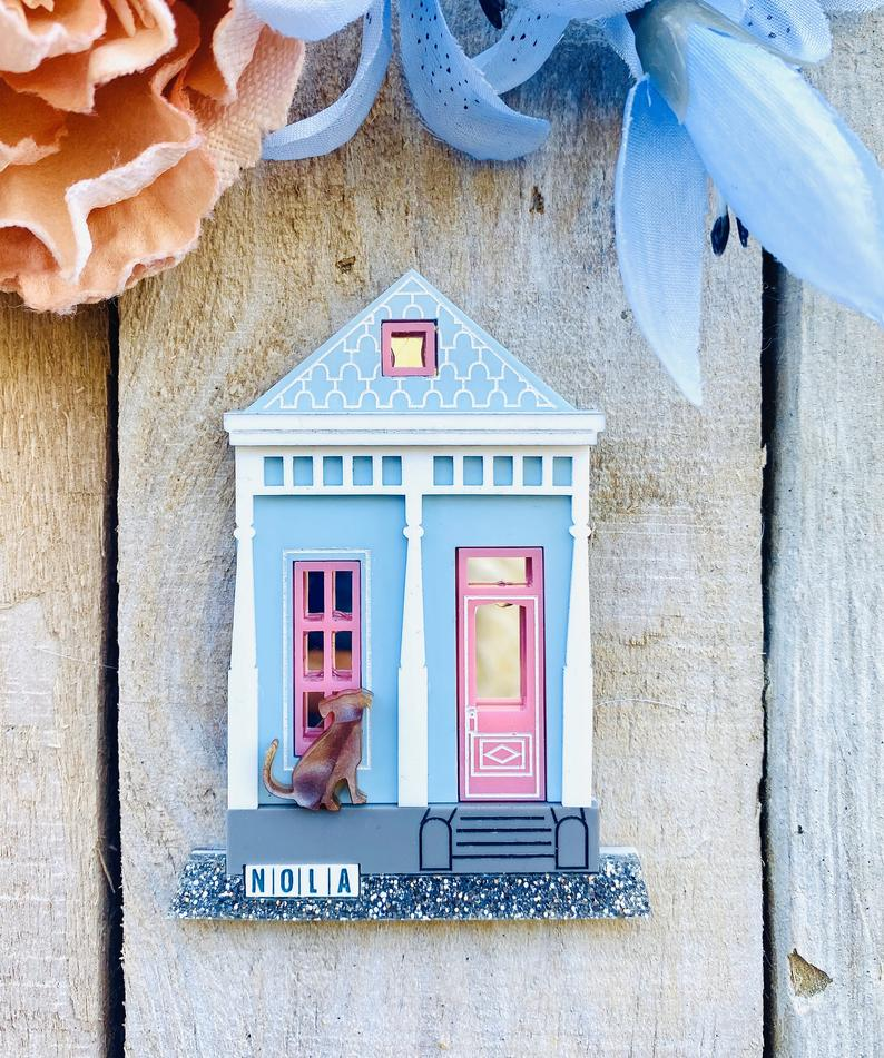 Shotgun House with dog by Poly Paige *Pre Order for 15 October*