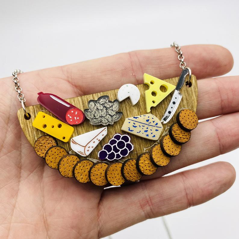 Cheese Board Necklace by Poly Paige *Pre Order for 15 October*