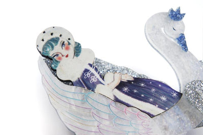 LaliBlue Snow Queen Brooch