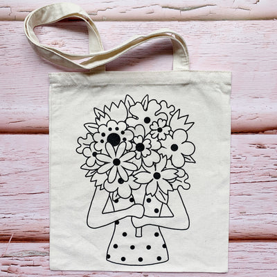 Surrounded by Blooms Cotton Tote Bag 🌸