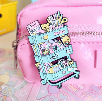 Chic Kawaii Scrap Cart Polly Pocket Toys Pin