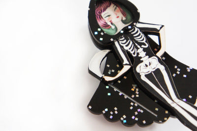 LaliBlue Dead Girl Brooch