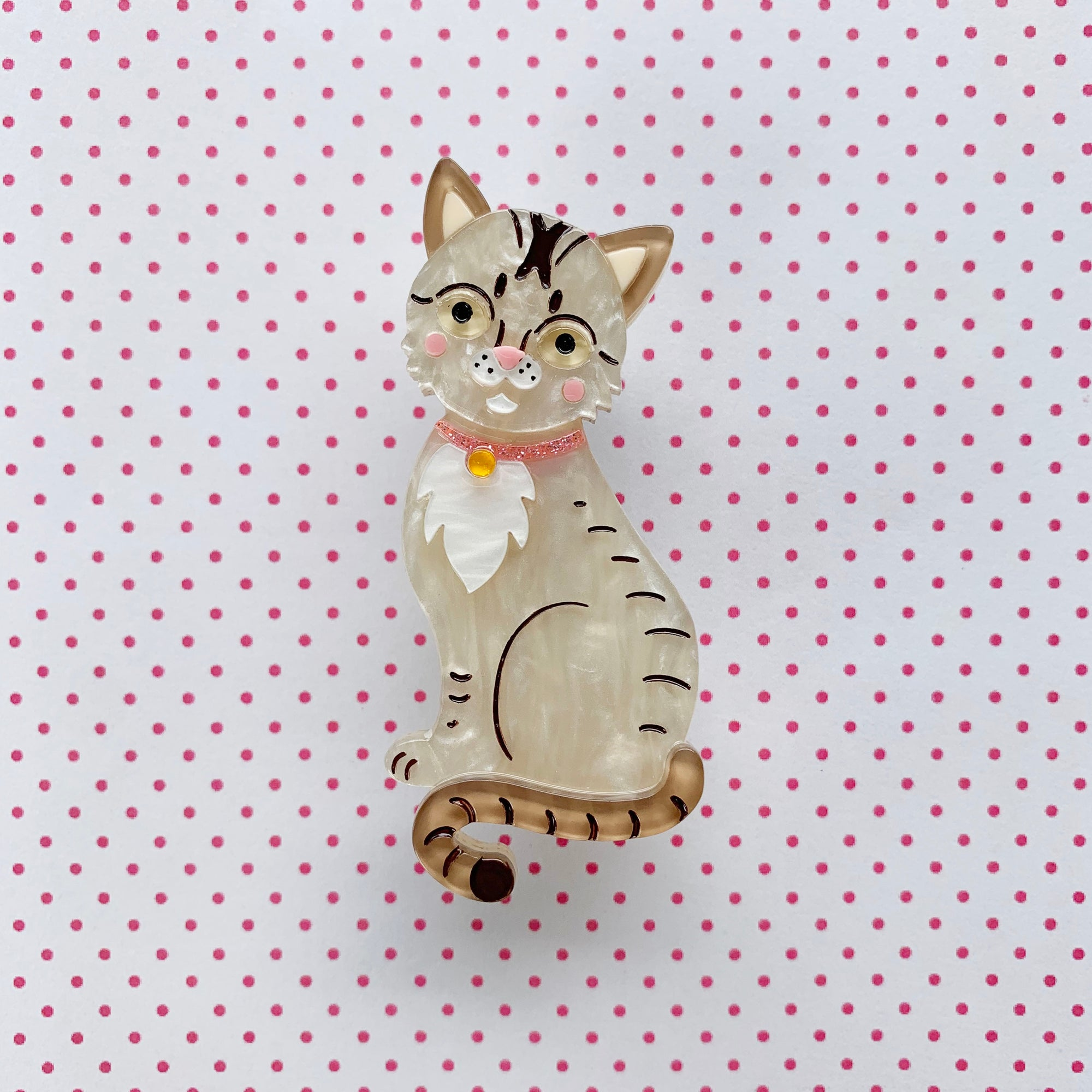 Comel the Singapura 'Kucinta' Cat Brooch 🐱