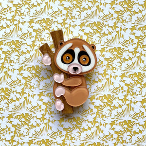 Leila the Sunda Slow Loris Brooch Layla the Sunda Slow Loris Brooch Shelovesblooms