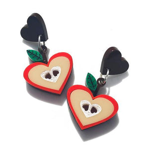 Little Pig Jewellery Design Acrylic Apple Earrings Little Pig Design Apple Brooch Little Pig Design Jewellery