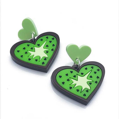 Little Pig Jewellery Design Acrylic Kiwi Earrings Little Pig Design Kiwi Earrings Little Pig Design Jewellery