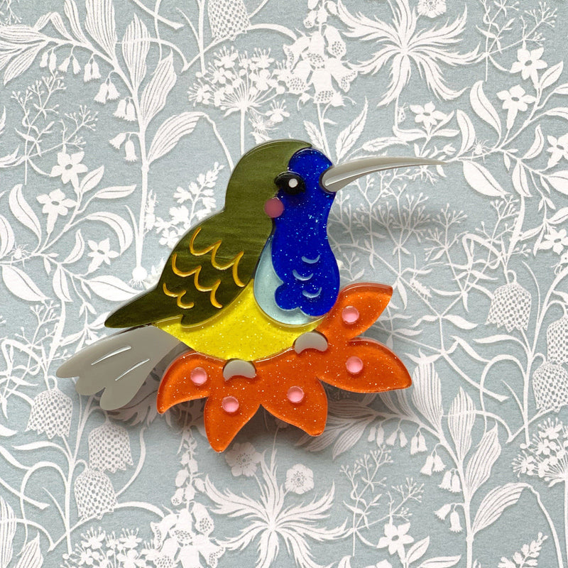 Ollie the Olive-backed Sun Bird Brooch Ollie the Olive-backed Sunbird Brooch Shelovesblooms