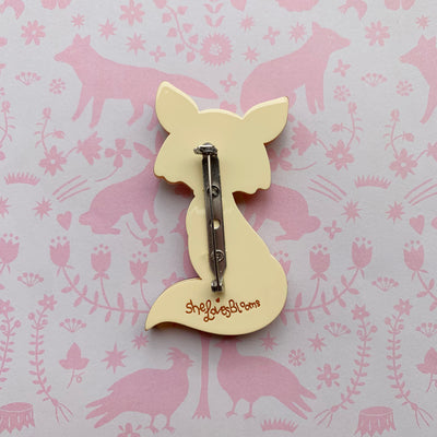 Delightful Mr Dhole Brooch (Pink Bow Tie)