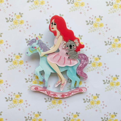 My Cantering Bliss (Pink Hair Beauty) Brooch 🐴