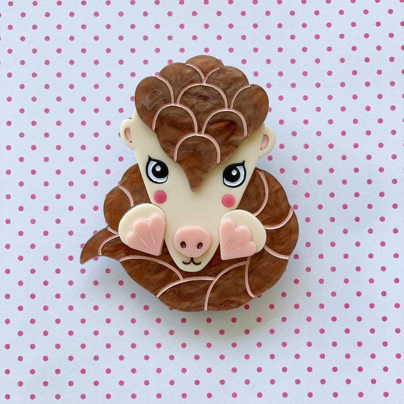 Polly the Pangolin Brooch Polly the Pangolin Brooch Shelovesblooms