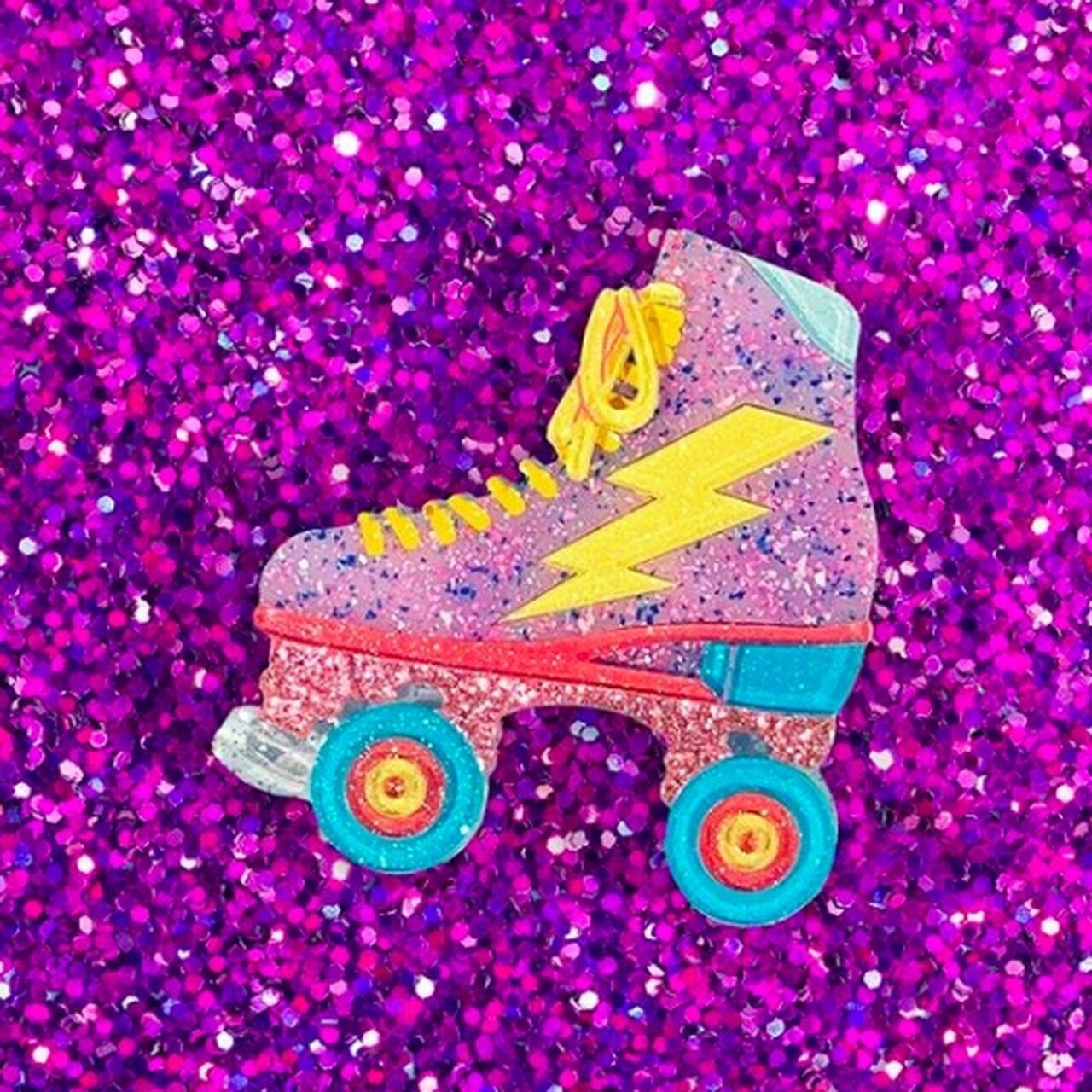 Roller Babe Brooch by Lipstick & Chrome x Candy Doll Club