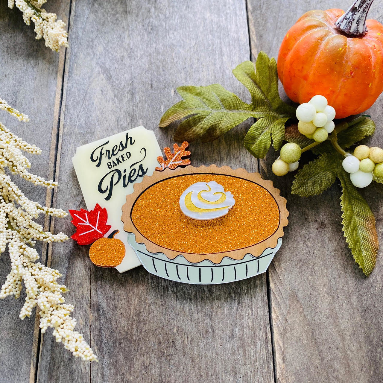 Pumpkin Pie Brooch by Poly Paige *Pre Order for 15 October*