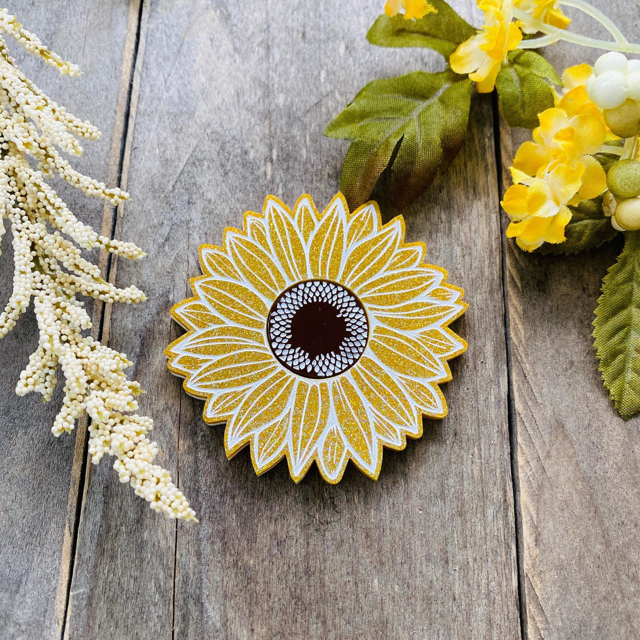 Sunflower Brooch by Poly Paige *Pre Order for 15 October*