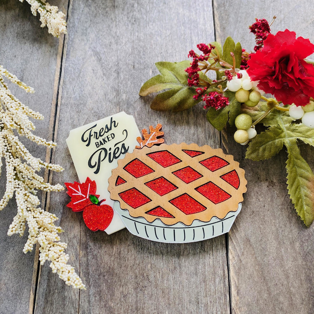 Apple Pie Brooch by Poly Paige