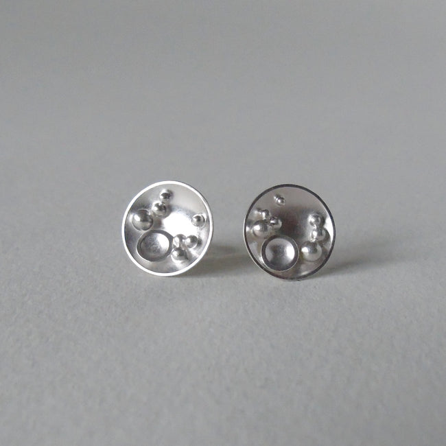 silver Selene stud earrings