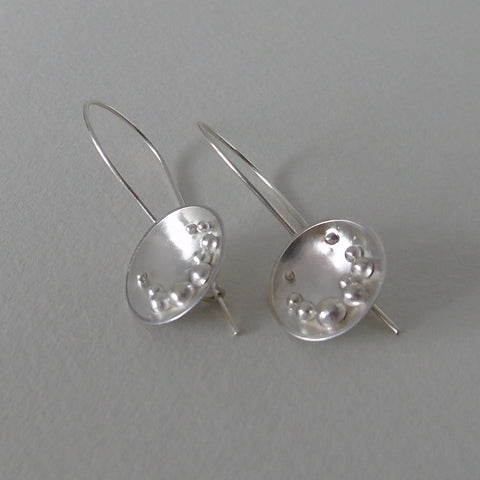 silver Selene large safety hook earrings