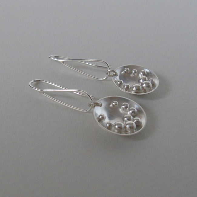 silver Selene large open hook earrings