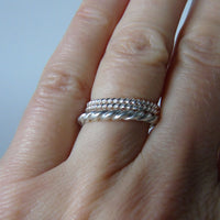 silver weave ring