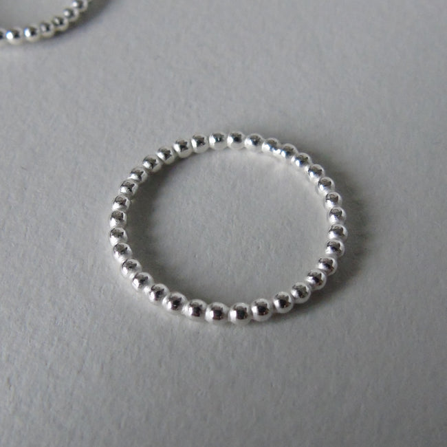 silver bobble ring