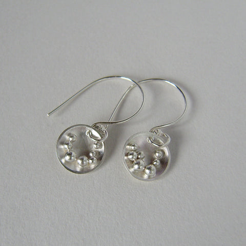 silver Selene hook earrings