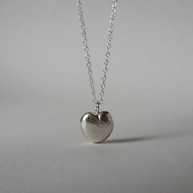 Mother and Daughter heart necklaces