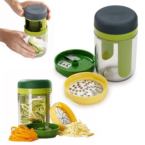 3 en 1 Hand-held Spiralizer