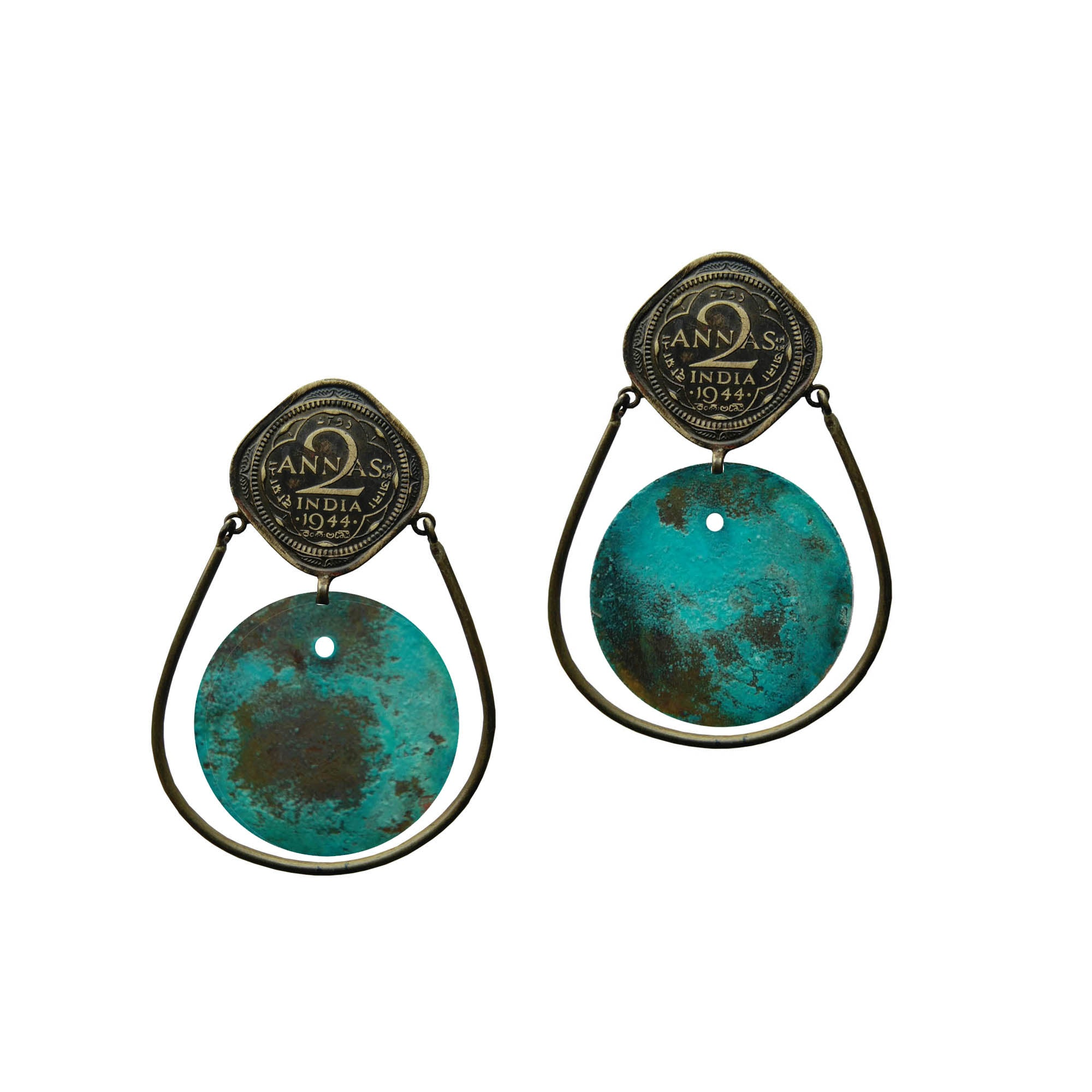 2 anna circle loop earrings