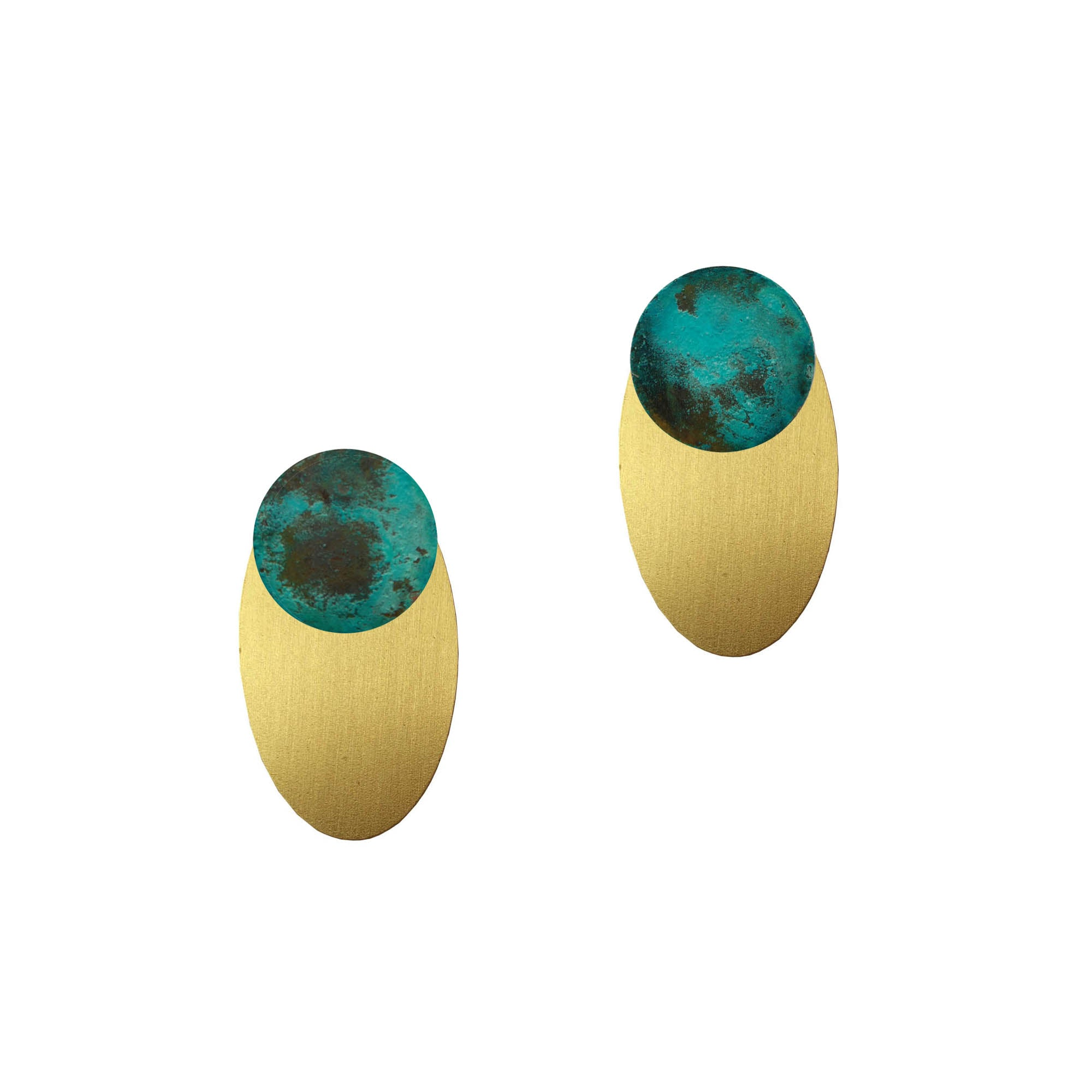 circle oval ear-jackets