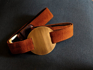 tan brown high waist-belt