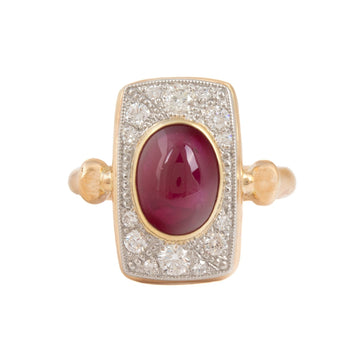 Ruby & Diamond Dinner Ring