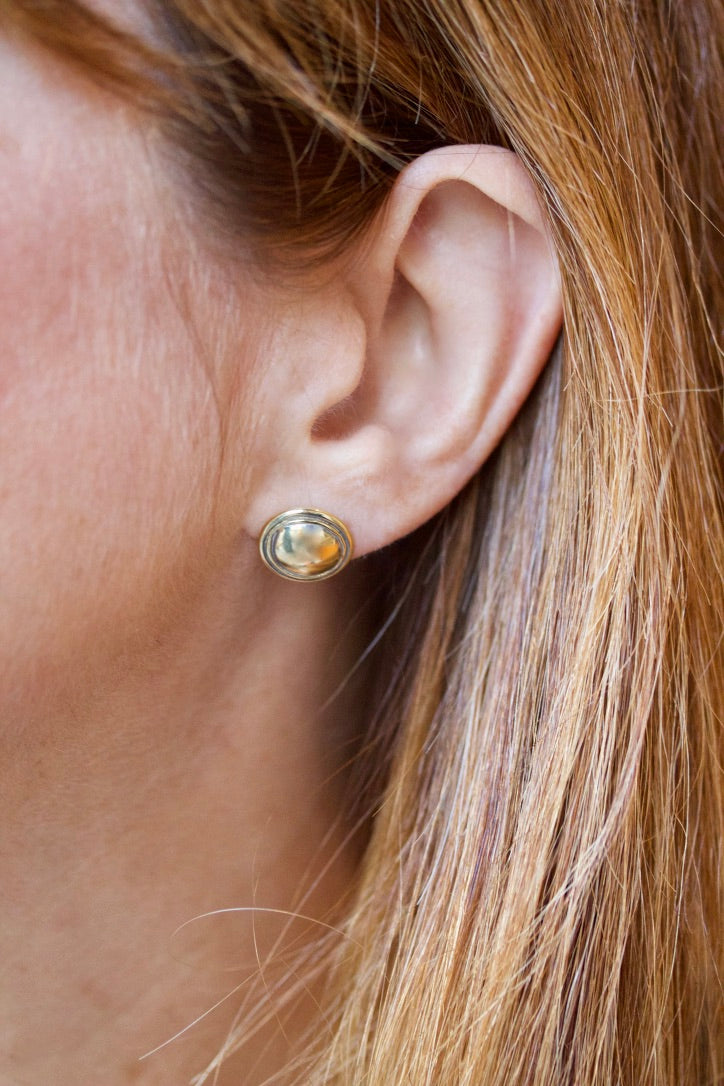 Dome Style Stud Earrings